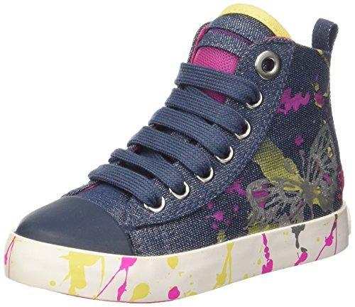 Geox Ciak C, Sneakers Hautes Fille Bleu (Denimc4008)