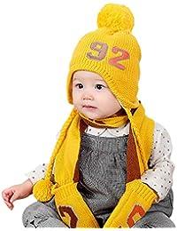 Chapeau Enfant ADESHOP Mode Enfants GarçOn Fille Hiver Chaud ÉPaissir BéBé  Chaud Gants Chapeau Bonnet De ffd3dd45ddd