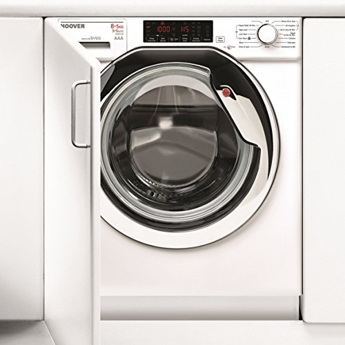 Hoover HBWD8514TAHC SUPER SILENT Built-In Washer Dryer 8kg Wash, 5kg Wash & Dry, 1400 Spin