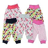 Baby-Hose Pumphose Basic Schlupfhose Jungen 100% Baumwolle Jersey Mädchen Sommerhose im 5er Pack, Farbe: Mädchen, Größe: 74