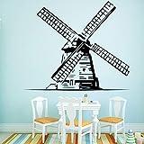 mulino a vento Wall Sticker Home Decor Decorazione adesivi in   cucina Vinyl Art Decal-103x87cm