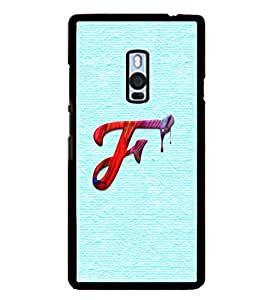 YuBingo OnePlus 2 :: OnePlus Two :: One Plus 2 2D Designer Phone Back Case Cover ( Monogram with Beautifully Written Paint Finish letter F )