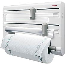 Leifheit 25703 Parat Comfort - Portarrollos de papel de cocina, de pared