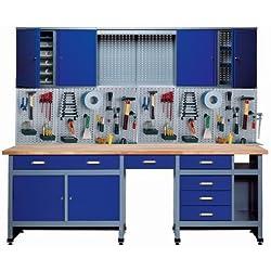 Küpper 70412-7 Atelier de bricolage, 240cm, fabriqué en Allemagne, couleur bleu marine
