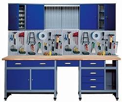 Küpper 70412-7 Set für Werkstatt, 240cm, hergestellt in Deutschland, Farbe: ultramarin