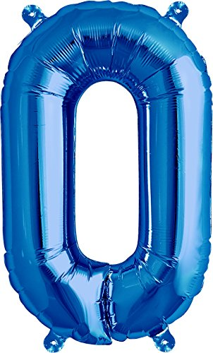 nballon | Folienballon | Buchstaben-Luftballon (O, Blau, 41cm) ()