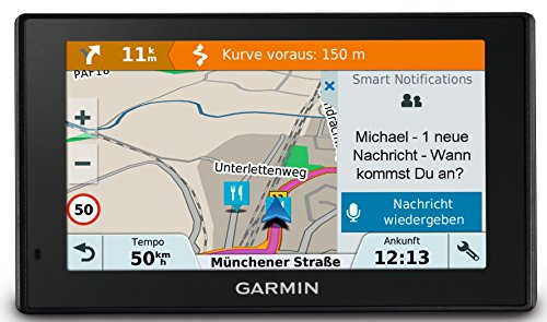 Garmin DriveSmart Sat Nav with Lifetime Map Updates for UK, Ireland and Full Europe, Digital Traffic and Built-in Wi-Fi 2