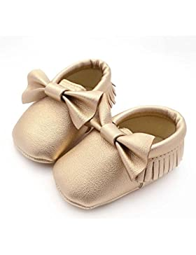 Hongfei Unisex Antiskid Toddler Baby's Shoes con suela blanda Bowknot Tassels