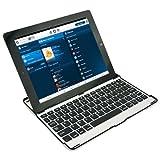 Demarkt Kabellos iPad Keyboard Tastatur für Apple iPad 2 3 Keyboard Bluetooth Tastatur Aluminium Etui Case in Schwarz (Amerikanische Tastatur!!!)