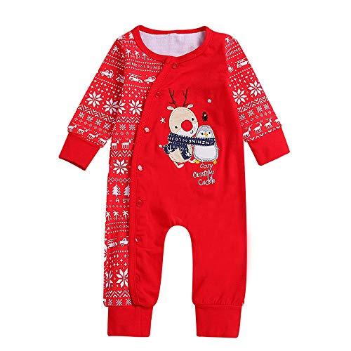 Weihnachten Baby Kleidung Set,Neugeborenes Baby Jungen Mädchen Winter Strampler Overall Schlafanzug Kleidung Outfits