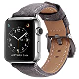 Apple Watch Armband 38mm,MisVoice Uhrenarmband Business Stil Hauptschicht Leder Ersatz Band/Armband...