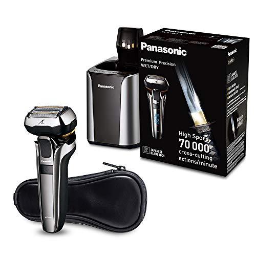 Panasonic Premium Rasierer ES-LV9Q mit ultraflexiblem 5D-Scherkopf, schonender Nass- und Trockenrasierer mit Reinigungsstation (Rasierer Nass-trocken Panasonic)