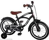 14 Zoll Fahrrad Qualitäts Kinderfahrrad mit Stützräder bike Black Cruiser schwarz matt 41401
