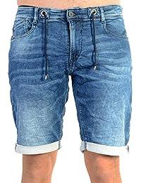 Pantalones Cortos Jogg Jeans le Temps des Cerises 711 WM02 Azul