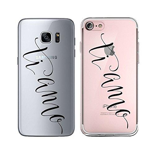 Blitz® TAKE IT EASY motifs housse de protection transparent TPE caricature bande iPhone Fuck you M13 iPhone 5 ti amo M14