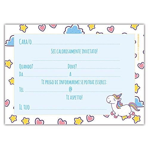 Partycards Set Di 12 Inviti Compleanno Biglietti Invito Per Festa