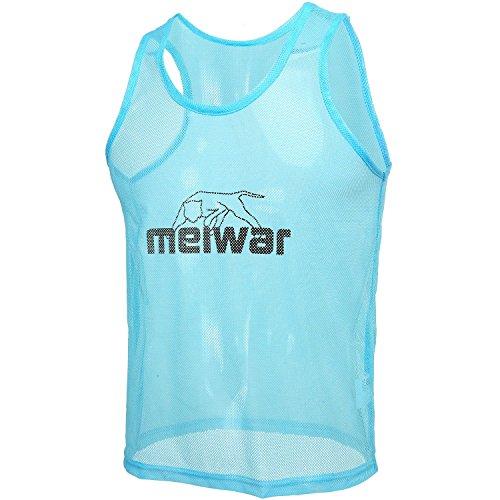 meiwar Trainingsleibchen 10er Set Markierungshemden in blau, Größe S -
