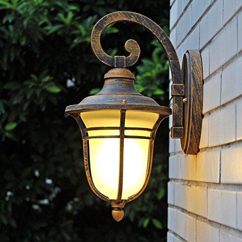 AMOS Wandleuchte schmiedeeiserne nostalgische amerikanische Tür leuchtet Gartenleuchten neue chinesische Treppe Hotel Glas Lampe -