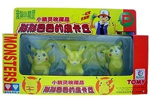 Pokemon Pikachu Sammlerfiguren - 3 Stueck
