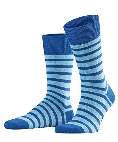 FALKE Herren Füßlinge Even Stripe, Mehrfarbig (Paris Blue 6057), 43/46 (Blue-stripe-socken)