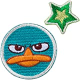 Minoda Phineas y Ferb cara pequena emblema del Hierro y el sello verde anfibio - pequena D01Y5956