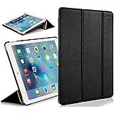 ForeFront Cases® - Étui en cuir synthétique avec support pour iPad mini Apple - fermeture magnétique avec mise en veille automatique - Noir