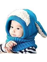 Reasoncool L Inverno Bambino Bambini Uomini Caldo Cappuccio Cappuccio Di  Lana Sciarpa Caps Cappelli 46576c353b6f