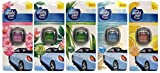 5x Febreze / AMBI PUR car Autoduft Lufterfrischer Verschiedene Sorten [Ocean and Wind ,Reinforest Breeze, Flowers and Spring, Fresh New Day, Citrus Fusion]