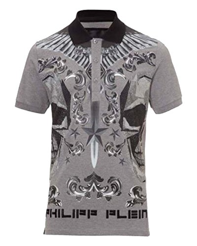 PHILIPP PLEIN - Herren Polo FLUXE (HM355528) Grau