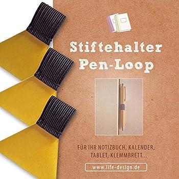 6x Selbstklebender Leder Gummiband Stifthalter Notebook Zubehör für Notebooks DE