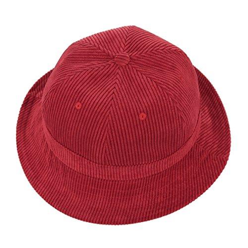 GEMVIE Chapeau Bob Hat Pêche Pliable Souple Outdoor Salaire Plage Femme Été Rouge