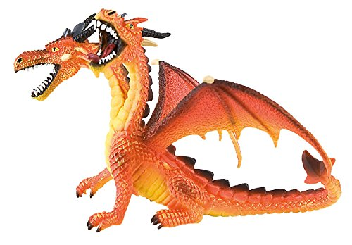 Toppers Bullyland 75598 - Dragón con 2 Cabezas, Naranja