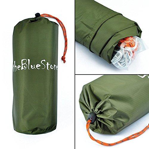 510Ga6gd9QL. SS500  - theBlueStone 3m x 3m - Waterproof, Lightweight,Ripstop Compact & Strong Green Tarpaulin for Camping