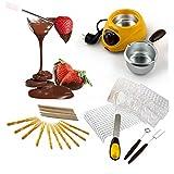Set di fonduta per cioccolato e formaggio cioccolatiera elettrica con accessori. MWS