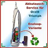 Akkutauschservice Akkuwechsel gegen einen ENELOOP-AKKU- für alle Triumph von Braun 3731, 3738, 3745, 3761, 3762, 3764 5000, 5500, 6000, 6500, 9000, 9400, 9500 und 9900