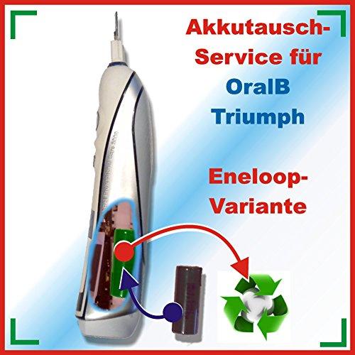 akkutauschen.de Akkutauschservice Akkuwechsel gegen einen ENELOOP-AKKU- für alle Triumph von Braun 3731, 3738, 3745, 3761, 3762, 3764 5000, 5500, 6000, 6500, 9000, 9400, 9500 und 9900