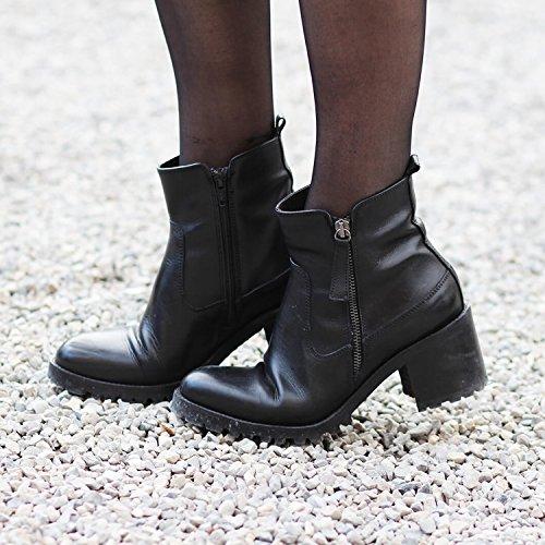 Exclusif Paris  Exclusif Paris Rock, Chaussures femme Bottines femme,  Damen Stiefel & Stiefeletten Schwarz - Schwarz