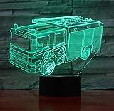 Pompiere della lampada 3D del camion di fuoco di luce notturna del regalo di compleanno degli amici della decorazione dei vigili del fuoco della lampada della luce notturna della lampada principale 3D