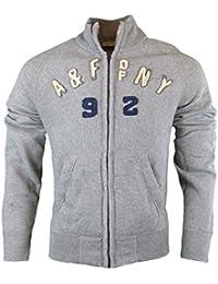 Abercrombie - Homme - Vintage Logo Zip Up Sweatshirt - Manche Longue