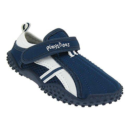 GALLUX Kinder Aqua Schuhe Badeschuhe mit UV-Schutz Aquaschuhe Schwimmbad Strand Pool für Mädchen und Jungen sportliches Aussehen Klett Hausschuhe unisex Marine