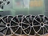 DS AUTOMOTIVE Radkappen Radzierblenden Set 4-teilig Schwarz/Silber 15 Zoll BMW Ford VW Audi MB