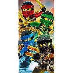 "'Lego Ninjago Toalla ""Diseño Team 70cm x 140cm, embalaje original-strandlaken-Playa-Toalla de mano-100% algodón-Cole-Jay-Kai-Lloyd-Zane-Nya-Misako-Sensai WU"