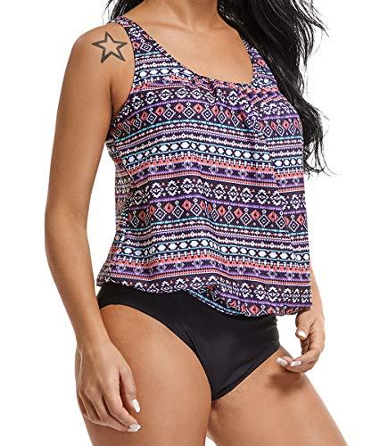 RIOJOY - Tankini - para Mujer Morado #1 Purple XL