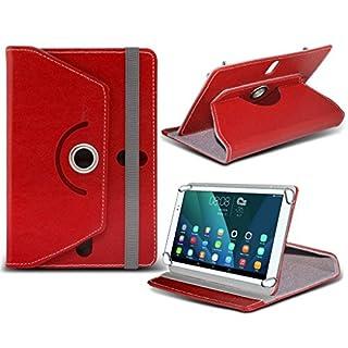(Rot) JINYJIA [7 Zoll] Tasche Fall hŸlle [Standplatz -hŸlle] fŸr JINYJIA [7 Zoll] Tablet PC Kasten-Abdeckung [Standplatz -hŸlle] strapazierfŠhigem Synthetik PU-Leder-360 Roatating Abdeckung Tasche Fall hŸlle [Standplatz -hŸlle] mit 4 Federn von i- Tronixs