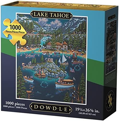 Jigsaw Puzzle - Lake Tahoe 1000 Pc By Dowdle Folk Art by Dowdle Folk Art | Vente Chaude