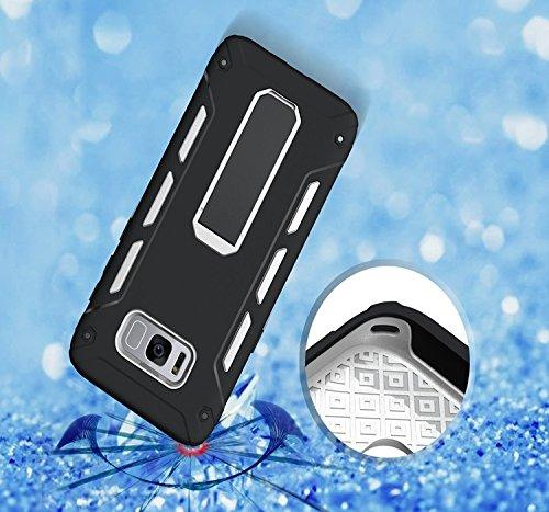 YHUISEN Galaxy S8 Plus Case, Cool Shockproof Rüstung Hybrid 2 In1 TPU und PC Rugged Dual Layer mit Kickstand Case für Samsung Galaxy S8 Plus ( Color : Green ) White
