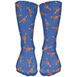 Yellow Drone Pattern Unisex Performance Crew Socks Protect The Wrist For Cycling Moisture Control Elastic Socks 11.8inch