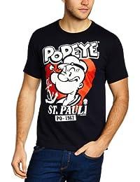 Logoshirt Herren T-Shirt Popeye - St. Pauli, Rundhals