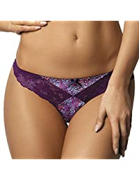 Gorteks Vivian/S String Bariolé Feminin Top Qualité Piece Du Set Derriere Normal Confortable- Fabriqué En UE