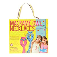 Make Your Own Fashion Macrame Owl Necklaces - Make Your Own Fashion Kit - Number 1 Creative - Arts & Crafts Toys Games Present Gift For Christmas Xmas Stocking Fillers Age 5+ Girls Child Kids Children